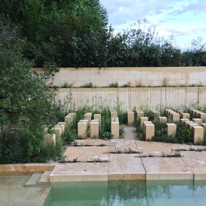 garden design, planting, RHS, Chelsea Flower Show, quarry garden, naturalistic planting, stone, show garden
